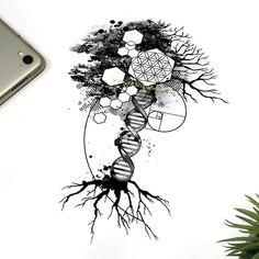 Family Tattoo Designs, Tree Tattoo Designs, Family Tattoos, Tattoo Sleeve Designs, Sleeve Tattoos, Tree Sleeve Tattoo, Unique Tattoo Designs, Tree Roots Tattoo, Tree Tattoo Back