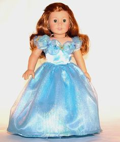 Princess Cinderella Movie dress for American Girl Doll
