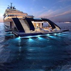 """House on water """"GLEAM"""" Yacht Courtesy of our friend . - Vicky Molyva - - House on water """"GLEAM"""" Yacht Courtesy of our friend . Yacht Design, Luxury Cars, Luxury Homes, Luxury Travel, Luxury Yacht Interior, Private Jet Interior, Bateau Yacht, Cool Boats, Small Boats"""
