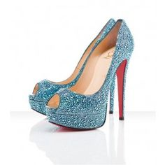 Louboutin Lady Peep Saphir... clearly I have a thing for shoes I can't afford lol