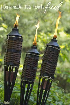 Homemade Tiki Torch Fuel Essential Oils Recipe
