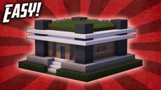 Minecraft: How To Build A Small Modern House Tutorial ( - Minecraft Servers Web - MSW - Channel Minecraft Mansion, Easy Minecraft Houses, Minecraft House Tutorials, Minecraft Houses Blueprints, Minecraft Plans, Minecraft House Designs, Amazing Minecraft, Minecraft Bedroom, Minecraft Tutorial