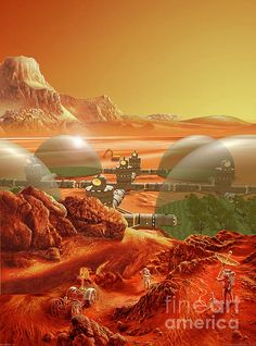 Maybe this is what your colony would look like? Mars Colony by Don Dixon