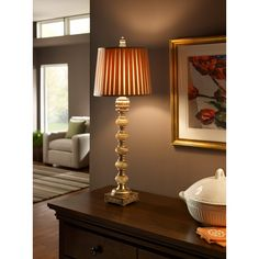 Murray Feiss 9937CAG/AGS Elizabetta Collection Silver Table Lamp  $239