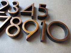 Soviet Vintage door numbers / Vintage number set / Address numbers / Home decor USSR era on Etsy, $20.00