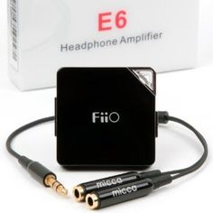 FiiO E6 Headphone Amplifier with Micca Y Cable $24.95