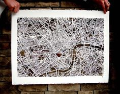 London Mapcut. Studiokmo Etsy.