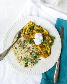 Herbacious Eggs and Cilantro Lime Rice
