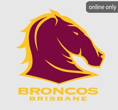 NRL Team Logo Quilt Cover Set and Accessories Range Brisbane Broncos