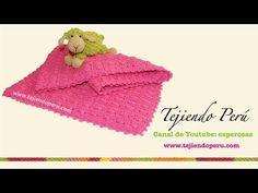 Manta o cobija para bebé tejida a crochet punto fantasía # 47 - YouTube