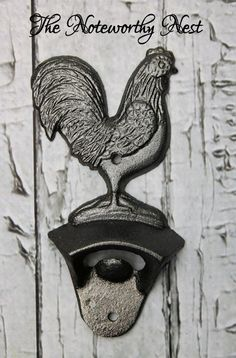 Rooser Cast Iron bottle opener // Rooster by TheNoteworthyNest