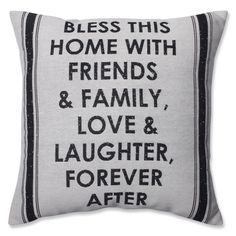 Home with Friends and Family Throw Pillow
