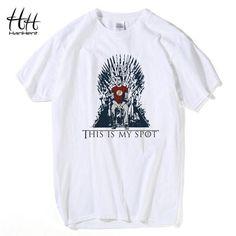 Games Of Thrones The Big Bang Theory T-Shirt This Is My Spot Men Shirts Casual Tee shirts