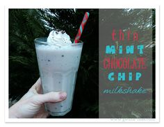 SF Peppermint Chocolate Chip Milkshake [S]  This is a year round favorite! You can use peppermint extract, but I LOVE the clean, fresh flavor that you get with just one or two drops of a good quality peppermint essential oil!