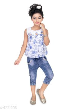 Clothing Sets Modern Classy Girls Top & Bottom Set Top Fabric:  Cotton & Synthetic  Bottom Fabric:   Cotton & Synthetic  Sleeve Length: Sleeveless Top Pattern: Printed Bottom Pattern: Printed Multipack: Single Sizes:  Age Group (2 - 3 Years) - 20 in Age Group (3 - 4 Years) - 22 in Age Group (4 - 5 Years) - 24 in Country of Origin: India Sizes Available: 2-3 Years, 3-4 Years, 4-5 Years, 5-6 Years, 1-2 Years   Catalog Rating: ★4 (6569)  Catalog Name: Modern Classy Girls Top & Bottom Sets Vol 1 CatalogID_694894 C62-SC1147 Code: 623-4771906-