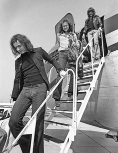 Deep Purple's founding members, Ritchie Blackmore, Ian Paice and Jon Lord exit The Starship in 1974.