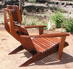 Mid Century Modern Chaise Lounge Chair Redwood Patio