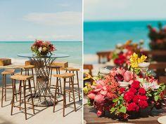 Decoração casamento na praia (Decoração: Valéria Leão Bittar | Foto: Marina Lomar)
