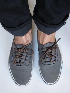 Vans Authentics w/ leather laces