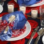 Celebrate the 4th of July with this fun and festive Table Setting. #DIY #4th of July #Red, White and Blue