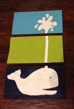 Whale Nursery Wall Art