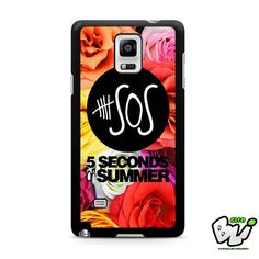5 Second Of Summer Roses Samsung Galaxy Note 4 Case