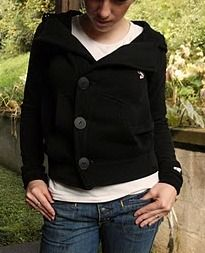 Tutorial: Zippered hoodie to buttoned jacket · Sewing | CraftGossip.com