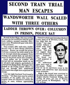 8th July 1965 - Ronnie Biggs escapes from Wandsworth Prison
