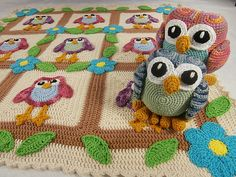 Ravelry: Happy Owl Afghan & Ami Pattern Set pattern by Deb Richey