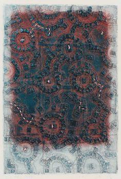 takahikohayashi:    D-6.Oct.1997papermaking, painting, collage林孝彦 HAYASHI Takahiko 1997poto by Yanagisawa Gallery
