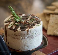 """Rosemary Honey """"Cheese"""" with Figs and a Balsamic Reduction"""