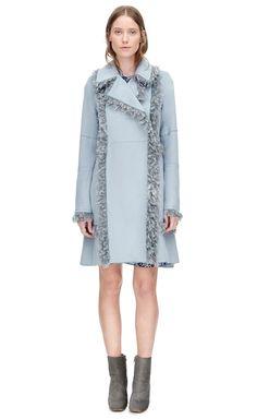 Rebecca Taylor Melton Faux Fur Coat