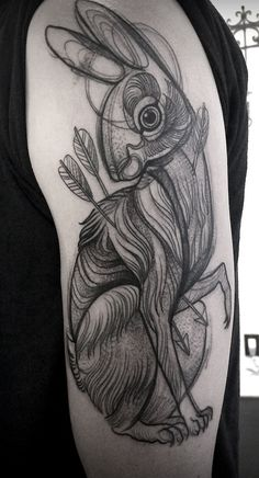 sketch-like tattoos. love this style!