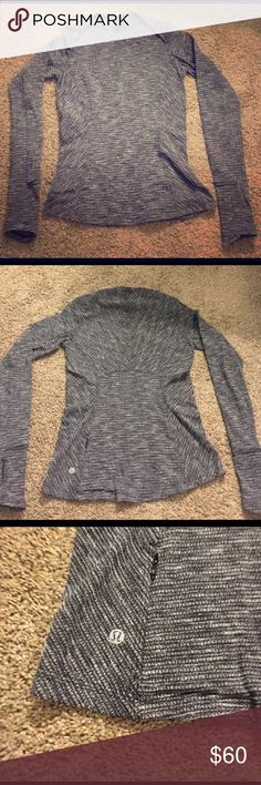 Lululemon Catch Me Top!!! Brand new (only worn once) lulu running top!  In perfect condition!  Thumb holes, small back pocket!  Great top. Realized I had something very similar in my closet already! lululemon athletica Tops Tees - Long Sleeve