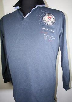 Kitaro Sweatshirt mit Polokragen 165230-52209 4-8XL bluestone