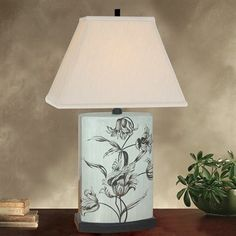 "Price: $116.82 JB Hirsch J15446 Carefree Accent Porcelain Table Lamp - 22"" Carefree Accent Porcelain Lamp    Silk shade Gray finish"