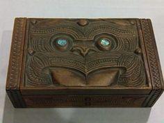 carved maori box
