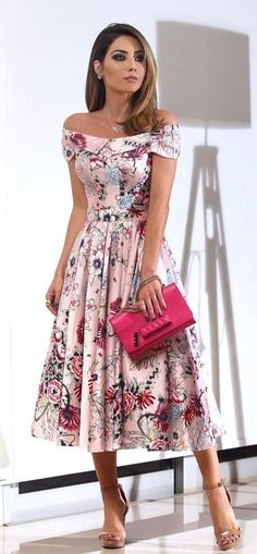 Charming Dinner Outfits Ideas For Fashion Mode, Modest Fashion, Fashion Dresses, Womens Fashion, Floral Fashion, Woman Dresses, Ladies Fashion, Style Fashion, Mode Outfits