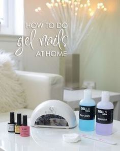 how to do gel nails at home with a gel nail kit - www.ForeverAmber.co.uk