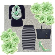 Super cute and if I didn't want to wear the heels then I would wear some flats that are mint colored