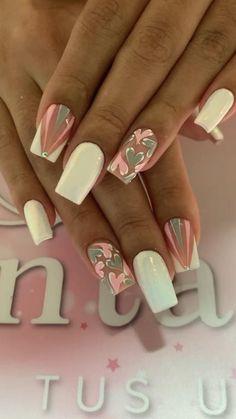 Nail Art Designs, Classy Nail Designs, Acrylic Nail Designs, Pink Tip Nails, Yellow Nails, Gel Nails, French Manicure Nails, Chic Nails, Classy Nails