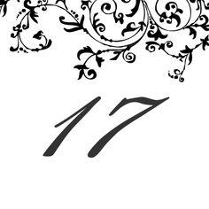 17 custom table numbers