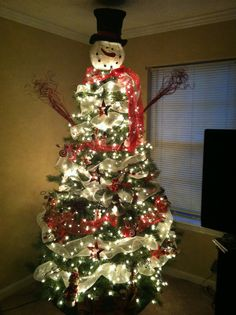 My Frosty the Snowman Christmas Tree!!!
