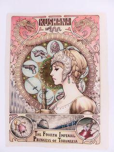 Nausicaä Valley Wind Poster Ghibli Laputa Japanese Movie Mint Anime Rough Paper