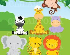 fiesta infantil tematica animales de la selva - Buscar con Google