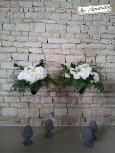 ... Décoration de mariage argenté & blanc, gris anthracite, gris per