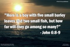 God knows when we have a needs in our life. - #TheFiveThousandDilemma See More @ http://ProvidentialLiving.com #God #Devotion #Bible #NIV #Scripture #Fishing #Fish #5000 #Feeding5000 #ProvidentialLiving #GodInYourInbox #Ocean #Beach #Miracles