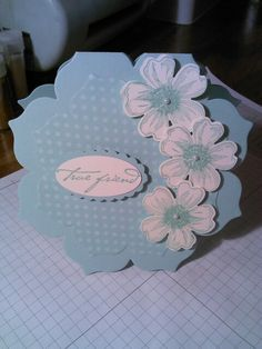 Did this card using Stampin up floral framelits