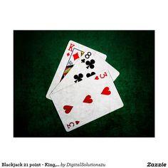 Blackjack 21 point - King, Eight, Three Postcard