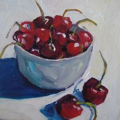Mo' Cherries, painting by artist Elizabeth Fraser